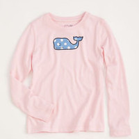 Girls T-shirts: Long-Sleeve Polka Dot Whale Tee for Girls  Vineyard Vines
