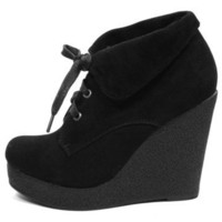 GYPSY WARRIOR - Fold Over Wedge Bootie - Dollhouse