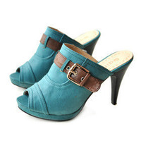 Leatherette Upper Stiletto Heel Pumps With Buckle Casual/ Honeymoon Shoes.More Colors Available - &amp;#36;39.83