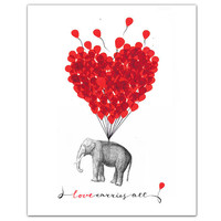 LOVE Carries All - ART Print 8 x 10""