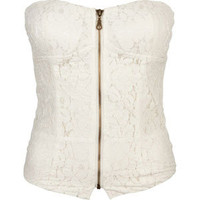 FULL TILT Lace Zip Womens Corset 206022151 | Corsets | Tillys.com