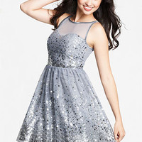 dELiAs > Allover Silver Sequin Dress > clothes > dresses > solid