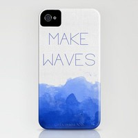 Blue Linen Dip Dye iPhone Case by StaciaE | Society6