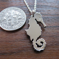Silver Seahorse Pendant Necklace
