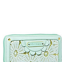 BetseyJohnson.com - OOPS A DAISY ZIP WALLET MINT GREEN