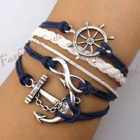 Infinity Anchor &amp; Rudder BraceletAntique by TheGiftoftheMagi