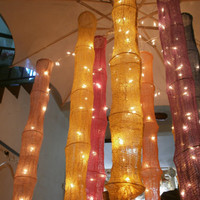 Oriental Cotton Hanging lights for wedding and by StringLightShop
