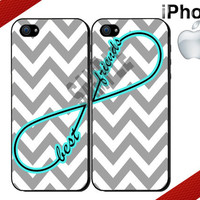 Best Friends iPhone Case - iPhone 4 Case or iPhone 5 Case - Infinity - Chevron iPhone Case - Two Case Set