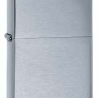 Zippo Vintage Brushed Finish Chrome Lighter with Free Engraving