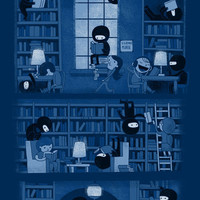 $17.68 Silence in the Library Art Print by Anna-Maria Jung | Society6