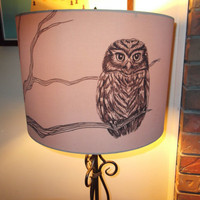 $35.00 Owl on a Branch Lampshade by CJacobsonArt on Etsy