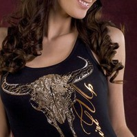 Cowgirl Up Snakeskin Foil Buffalo Tank CG1672