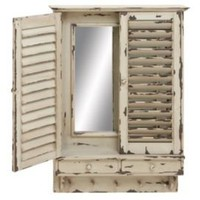 One Kings Lane - The Well-Dressed Wall - Mirrored Window Wall Cabinet