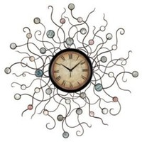 One Kings Lane - The Well-Dressed Wall - Wild Vines Wall Clock