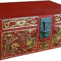 One Kings Lane - Maddie Sadofski - Antique Carved Leather Chinese Trunk