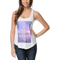 Empyre Girls Find Your Anchor White Racerback Tank Top