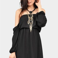 Perfection Off The Shoulder Dress - Black