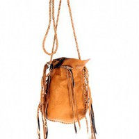 Scoop NYC | Vanessa Mooney :: Fringe Medicine Bag - Brown :: Shoulder Bags - Handbags - SHOES & HANDBAGS
