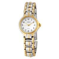 Carriage Women's C3C353 Two-Tone Round Case White Dial Two-Tone Stainless Steel Jewelry Bracelet Wa