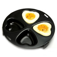 NORPRO Nonstick Heart Shape 4 Egg Poacher NEW