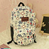 fashion multicolor Cute Anchor Backpack Bag