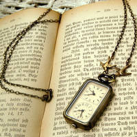 Double Watch Necklace - $34.00 : RagTraderVintage.com, Handmade Indie Retro Accessories