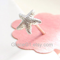 Starfish cartilage earrings cartilage stud earrings, tragus earrings, nose rings stud, ONE single stud