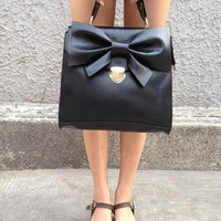 Vintage buckle bow Mobile Messenger handbag