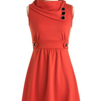 Coach Tour Dress in Tangerine | Mod Retro Vintage Dresses | ModCloth.com