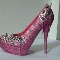 Pink Pumps / High Heels - Barbie Shoes (Silver Barbie W/ | UsTrendy