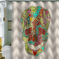 DENY Designs Home Accessories | Sharon Turner Flower Skull Shower Curtain