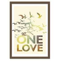 Bob Marley One Love in RETRO colors 13x19 print by theinksociety