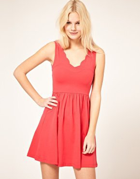 ASOS | ASOS Skater Dress With Scallop Neck at ASOS