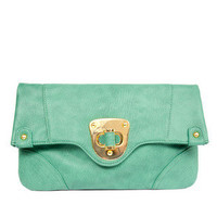 Foldover Twist Clasp Clutch $35