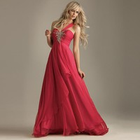 Hot Prom Gown Womens Formal Party Evening Cocktail Chiffon Long Dress IN 6Size