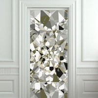 "Amazon.com: GIANT Door STICKER diamond rhinestone crystal poster, mural, decole, film 30x79"" (77x200 Cm): Home & Kitchen"