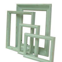 Picture Frames Pastel Mint Green Shabby Chic Frames Wedding Home Decor