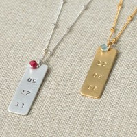 Anna Bee Personalized Long Necklace + Birthstone