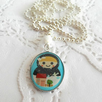 Nesting Doll Necklace - Russian Vintage Jewelry