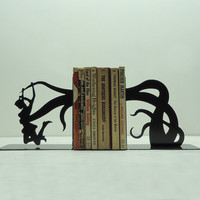Tentacle Attack Bookends  Free USA Shipping by KnobCreekMetalArts