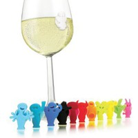 Vacu Vin Glass Markers Party People, Set of 12