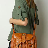 Little Brown Postal Purse - $26.50 : Fashion Vegan Purses And Handbags at LuLus.com