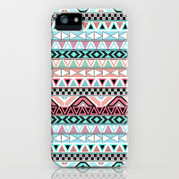 Pastel me | Andes Teal Pink Cute  Abstract Aztec Pattern iPhone Case by Girly Trend | Society6