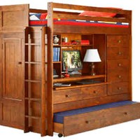 BUNK BED ALL IN 1 LOFT WITH TRUNDLE DESK CHEST CLOSET Paper Plans SO EASY BEGINNERS LOOK LIKE EXPER