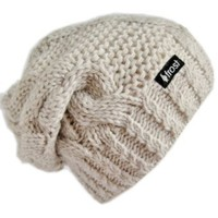 Amazon.com: Frost Hats Winter Hat for Women BEIGE Slouchy Beanie Hat Knitted Winter Hat Frost Hats Beige: Clothing