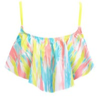 Abstract Print Hanky Bikini Top: Charlotte Russe