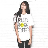 NEED MORE COFFEE Vintage Unisex Tee