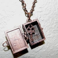 Antique Copper Key Box Necklace by Lucky7Jewelry on Etsy