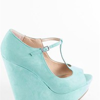T-Strap Peep Toe Heels - Mint at Lucky 21 Lucky 21