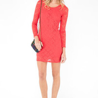 Make Lace Dress in Coral :: tobi